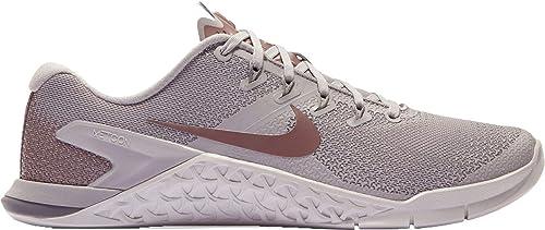 Nike Metcon 4 LM - Zapatillas de Entrenamiento para Mujer, 10 M US, Grey/Mauve/Mtlc: Amazon.es: Deportes y aire libre