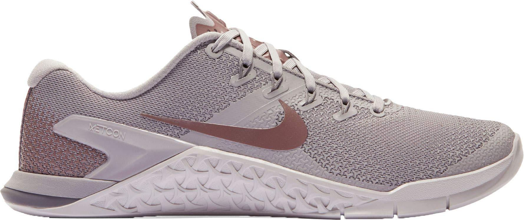 Nike Women's Metcon 4 LM Training Shoes (Grey/Mauve/MTLC, 6 M US)