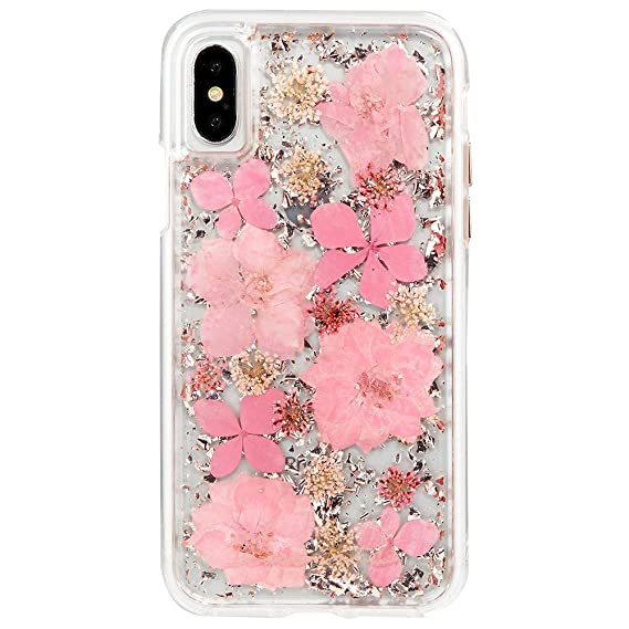check out 4342d b29bd Case-Mate iPhone X Case - KARAT PETALS - Made with Real Flowers - Slim  Protective Design - Apple iPhone 10 - Pink Petals