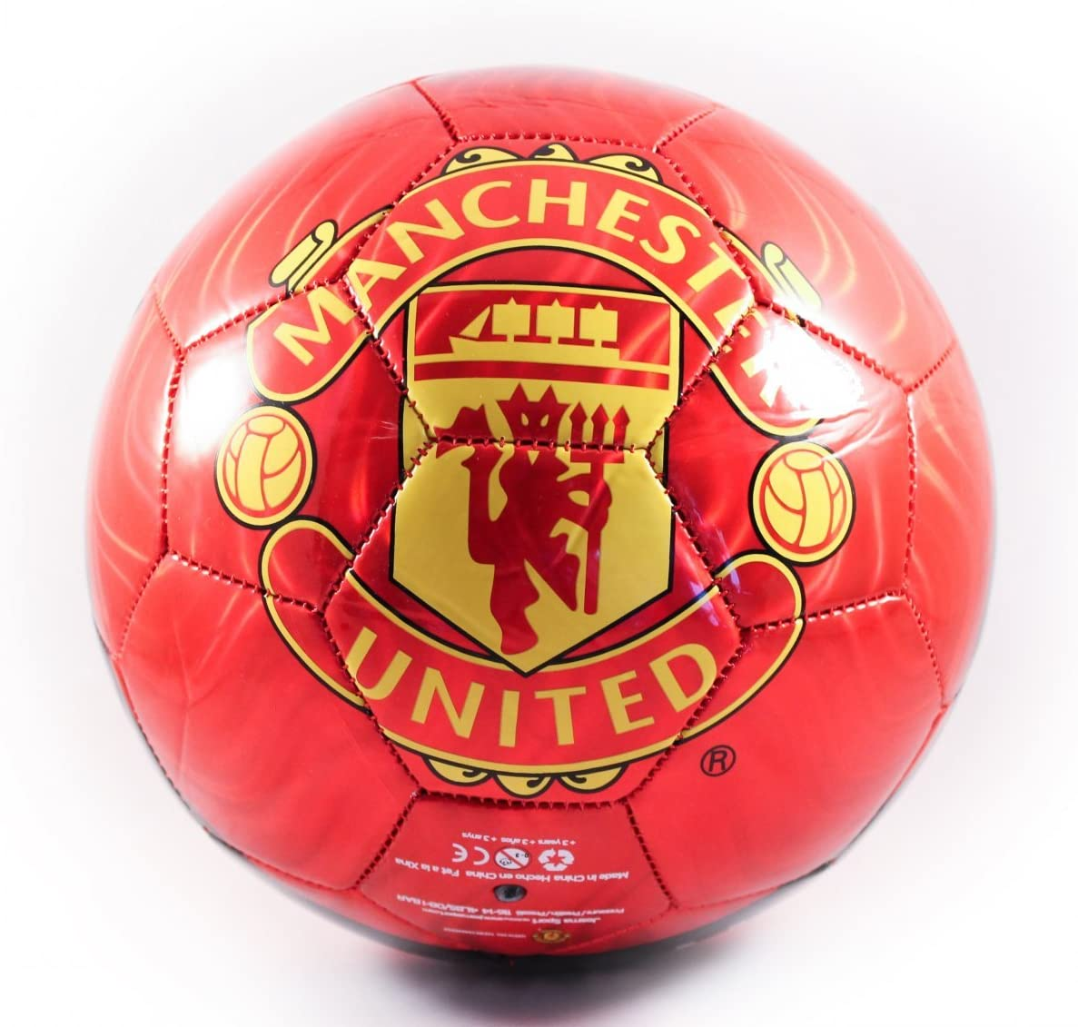 Amazon Com Manchester United Soccer Ball Size 5 Sports Outdoors