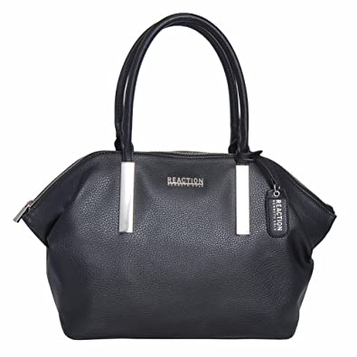 be87f03627c2 Reaction Kenneth Cole Inga Satchel Double Handle Bag (BLACK)  Amazon.in   Shoes   Handbags