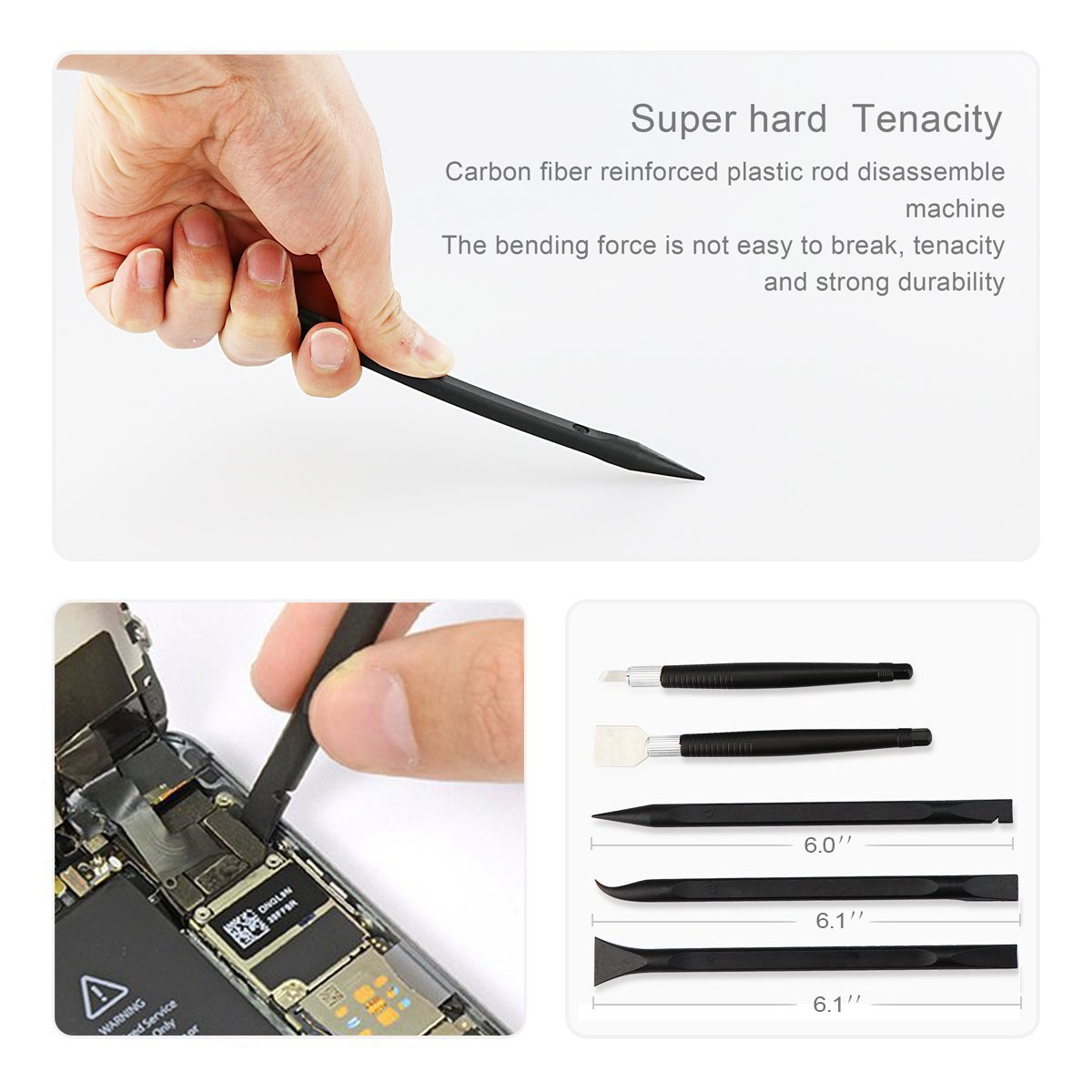 LCD Screen Opening Pliers Opening Repair Tool Kit with PCB Fixtures, ESD Tweezers, Opening Pry Tools, Screwdrivers, Scraper Knife and Carving Knife for cell phone and electronic products maintenance by XOOL (Image #7)