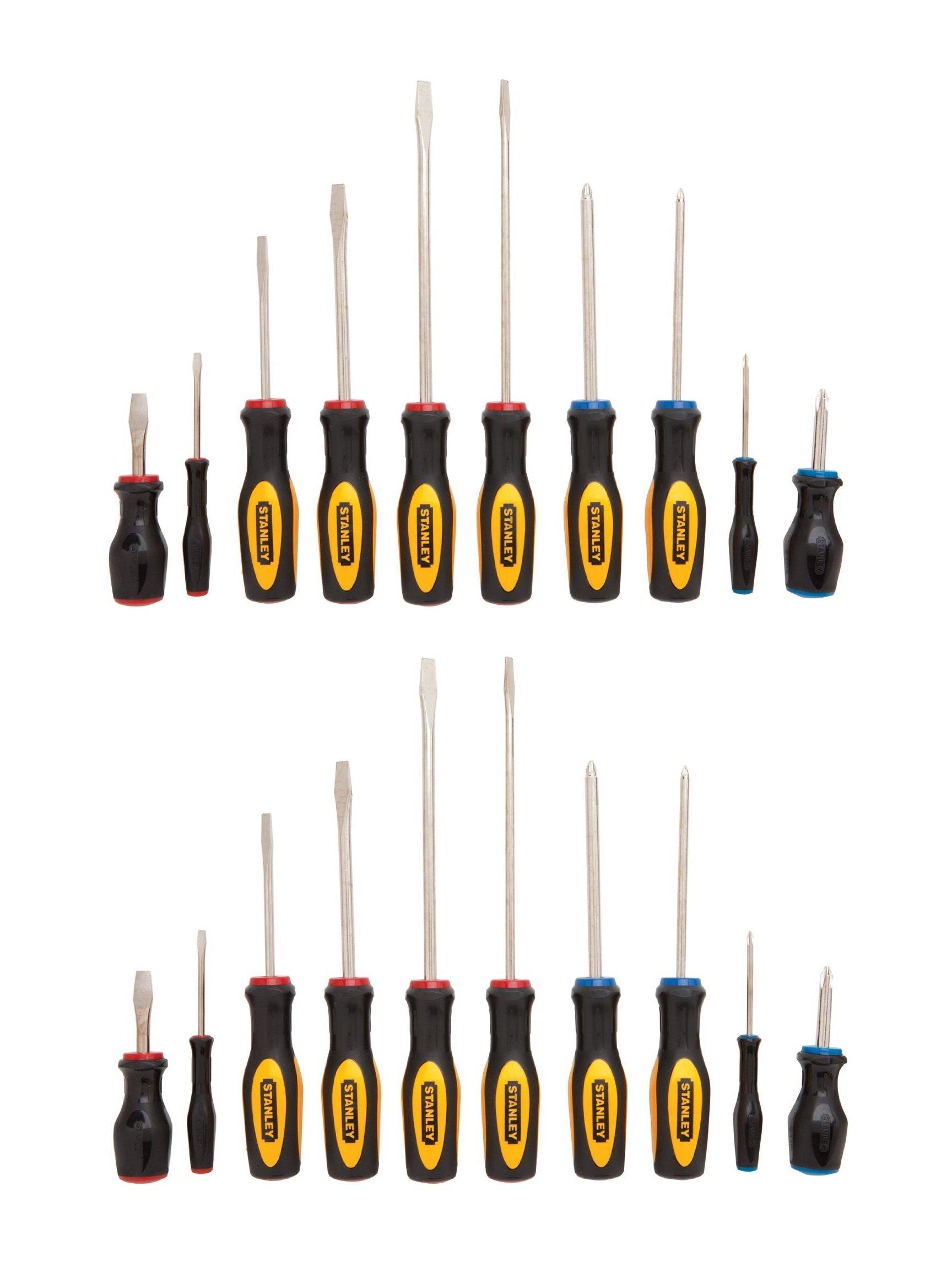 Stanley 60-100 10 Piece Standard Fluted Screwdriver Set (2 Pack)
