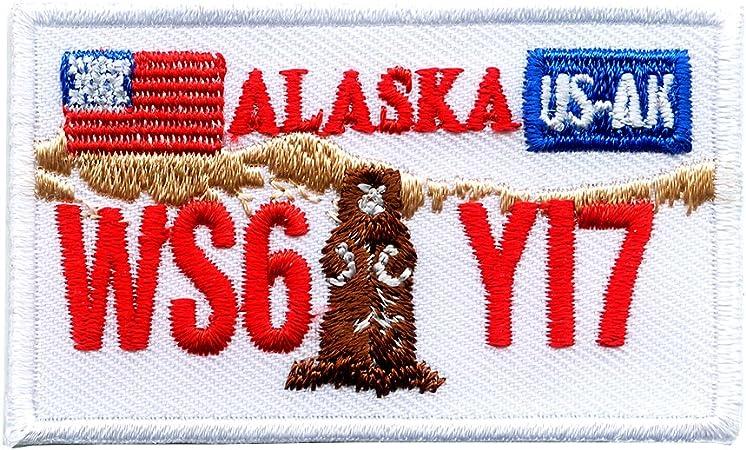 Alaska Ak Juneau Autokennzeichen Usa Bundesstaaten Patch Aufnäher Aufbügler 0616 Auto