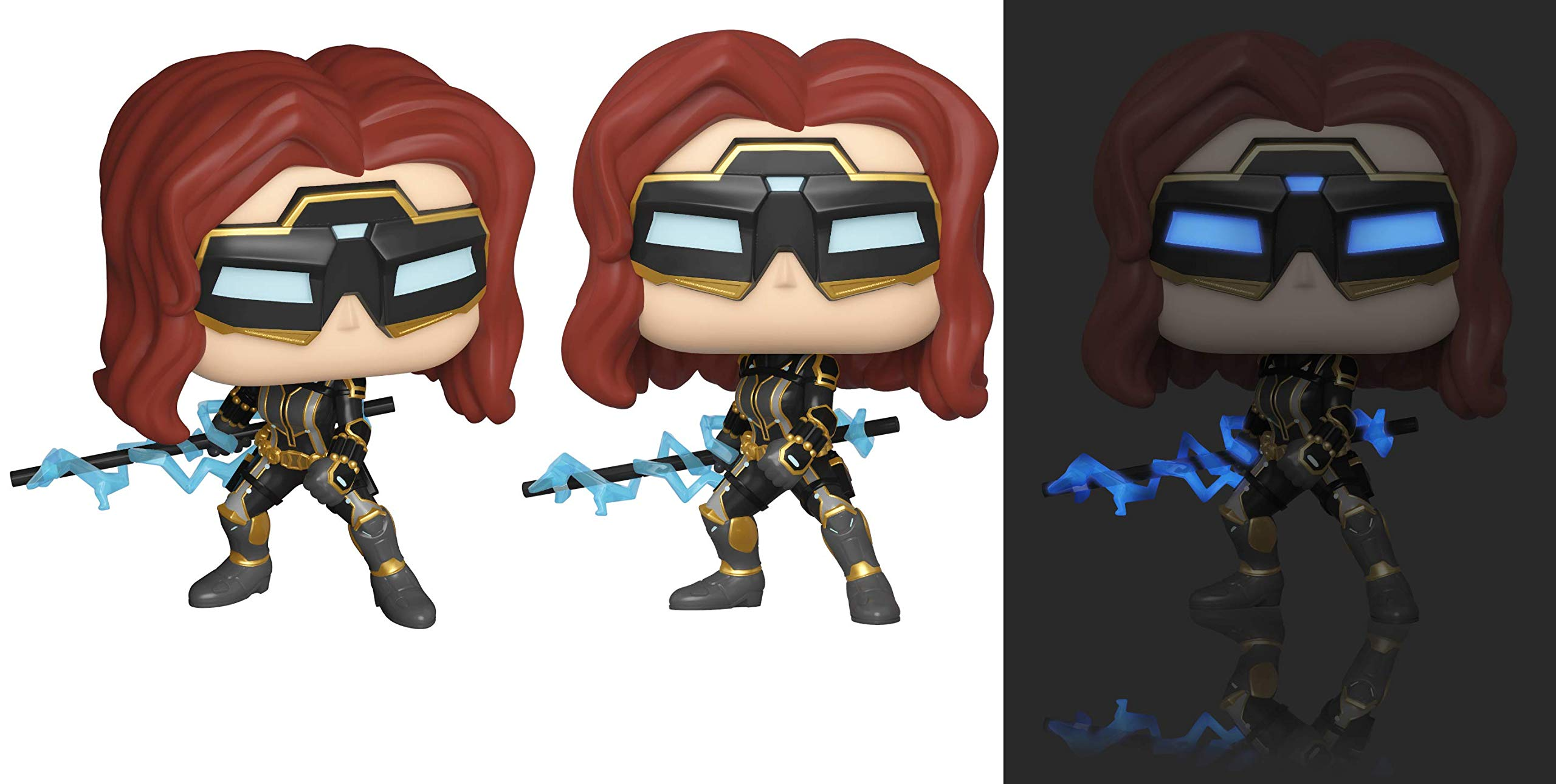 Funko 47813 POP. Marvel: Avengers Game- Black Widow (Stark Tech Suit) w/GW Chase (Styles may vary) Collectible Toy, Multicolour