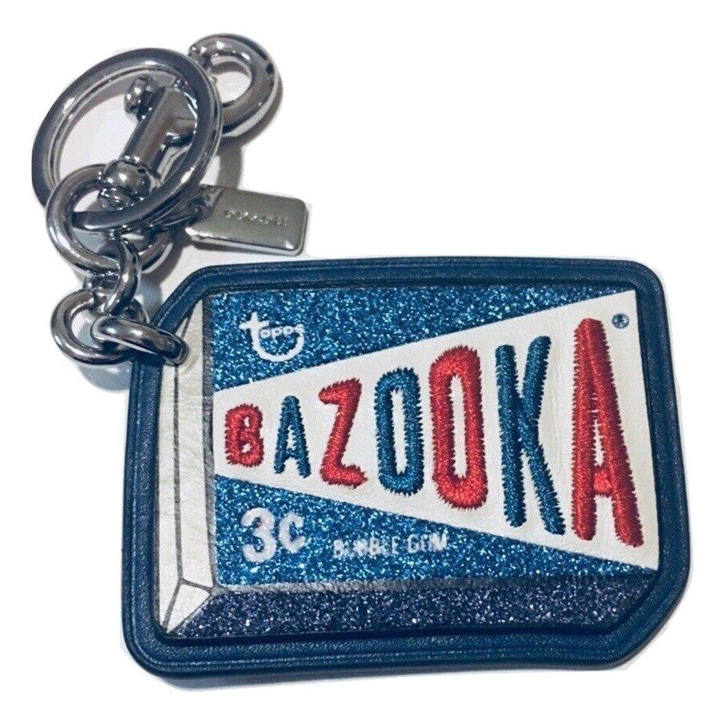 Amazon.com: Llavero de piel Bazooka con colgante de bolsa de ...