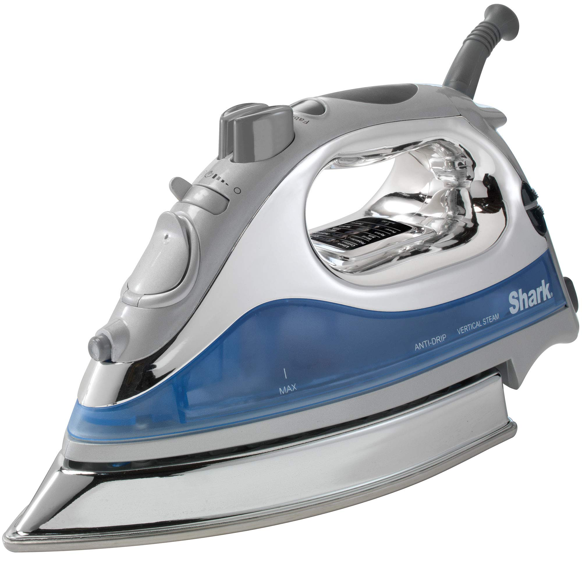 Shark Powerful Lightweight Professional Steam Iron auto-Off with Cord with 8.5'' Premium Stainless Steel Sole Plate and 1500 watts, Blue - GI468NN (Certified Refurbished)…