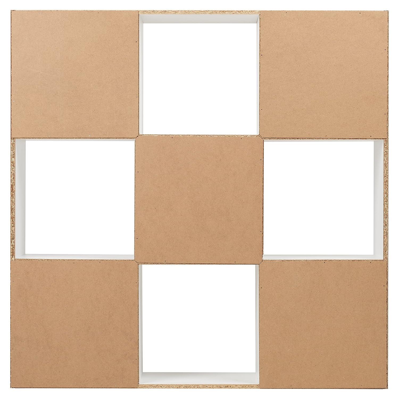 Hartleys Unit/é De Rangement Blanc A 9 Cubes /& 4 Bacs De Rangement Rouge