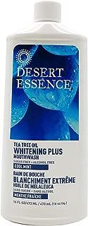 product image for Desert Essence Natural Tea Tree Oil Whitening Plus Mouthwash - Cool Mint - 16 Fl Oz - Reduces Plaque - Freshens Breath - Bamboo Juice - Spearmint, Wintergreen, Tea Tree Oil - Vitamin C - No Parabens