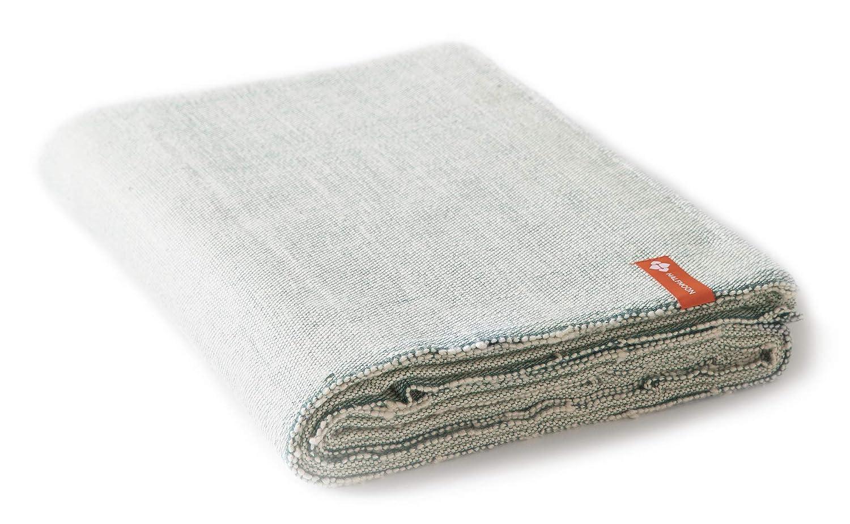 Amazon.com : Halfmoon Cotton Yoga Blanket - Alpine Weave ...