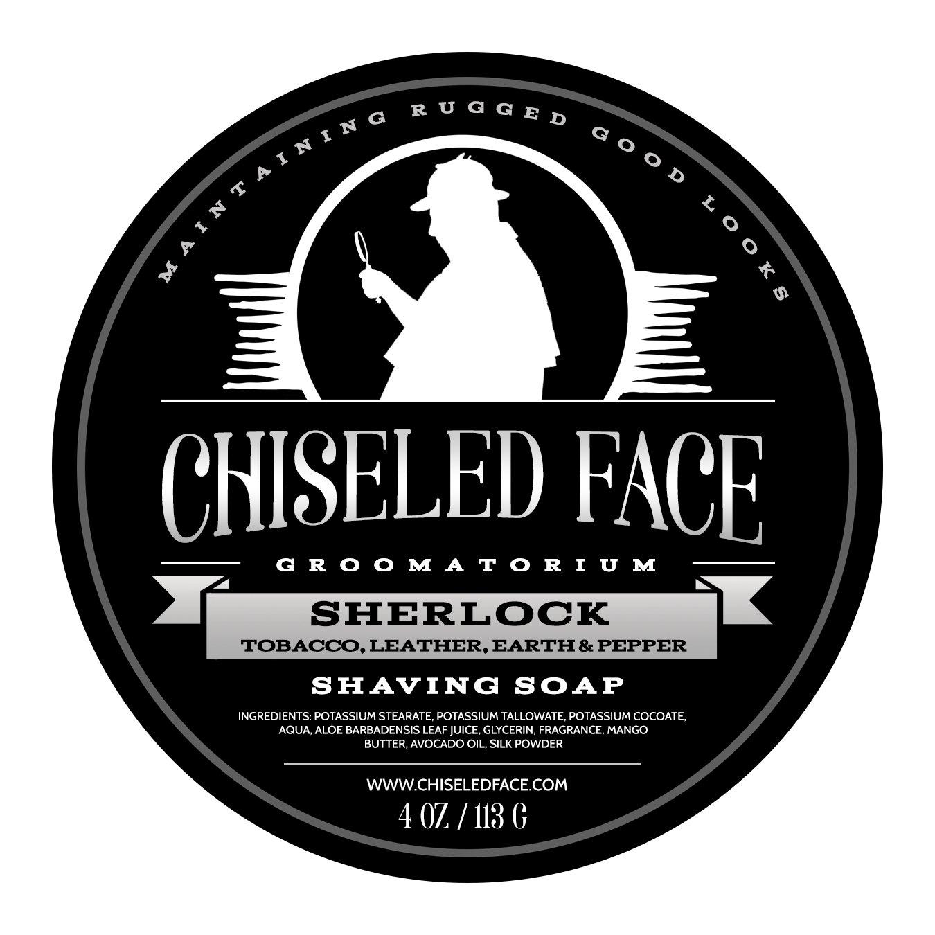 Sherlock - Handmade Luxury Shaving Soap from Chiseled Face Groomatorium