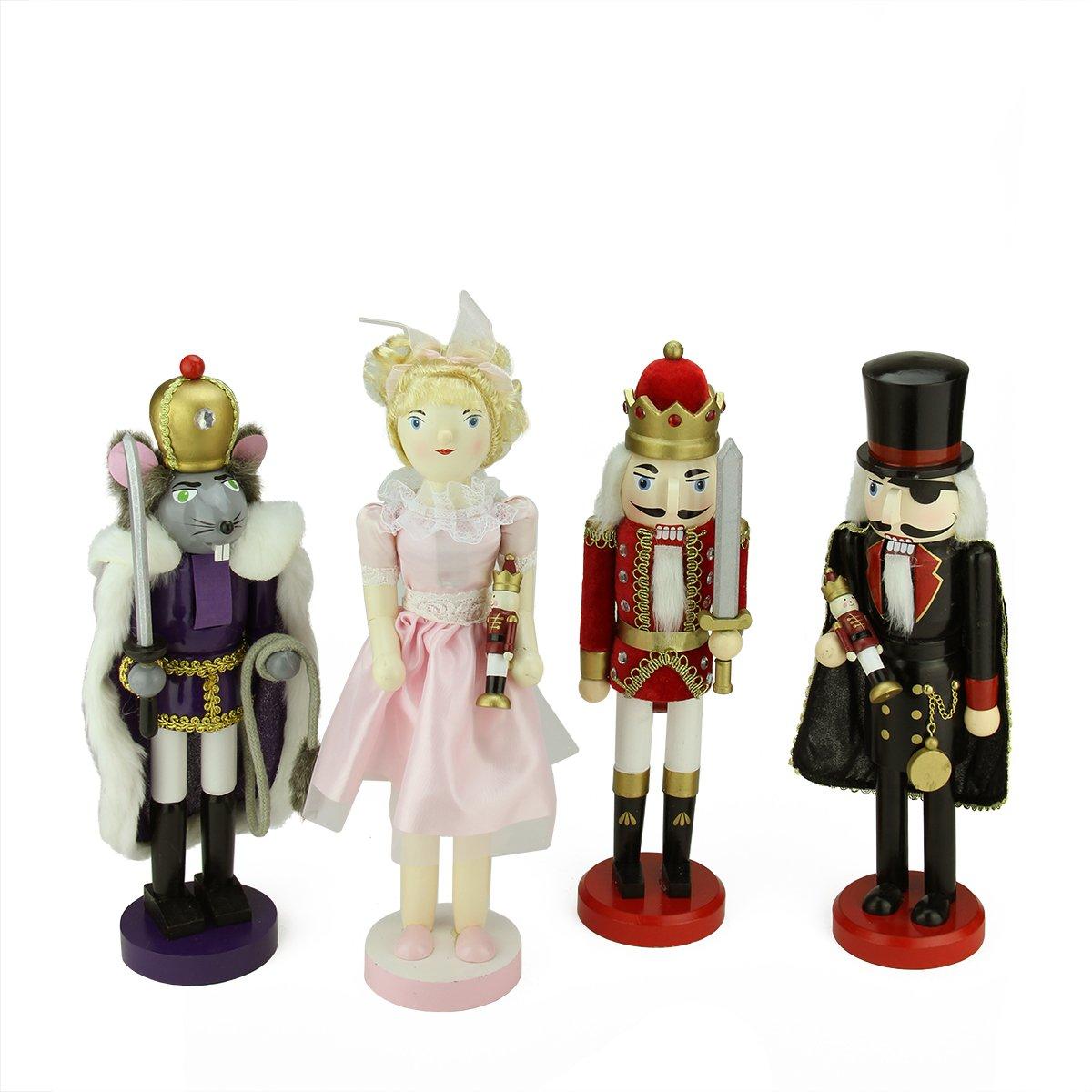 Northlight Decorative Wooden Nutcracker Suite Ballet Christmas Decorations, Set of 4