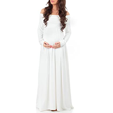 403d4236438 Image Unavailable. Image not available for. Color  Women s Cowl Neck and  Over The Shoulder Ruched Maternity and Nursing Dress by Mother Bee -