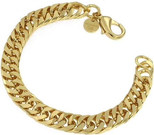 DoppelpanzerKette o. Armband Gold Doublé Halskette Gold Kette Herren Kette Damen Fußkettchen Anhängerkette Geschenk Schmuck ab Fabrik Italien tendenze