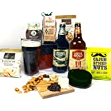 Cheese Beer & Nibbles Hamper Gift Box - FREE UK Delivery