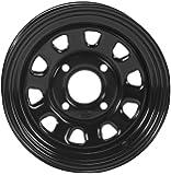 ITP Delta Steel Wheel - 12x7 - 5+2 Offset - 4/110 - Black , Bolt Pattern: 4/110, Rim Offset: 5+2, Wheel Rim Size: 11x7, Color: Black, Position: Front/Rear 1225553014