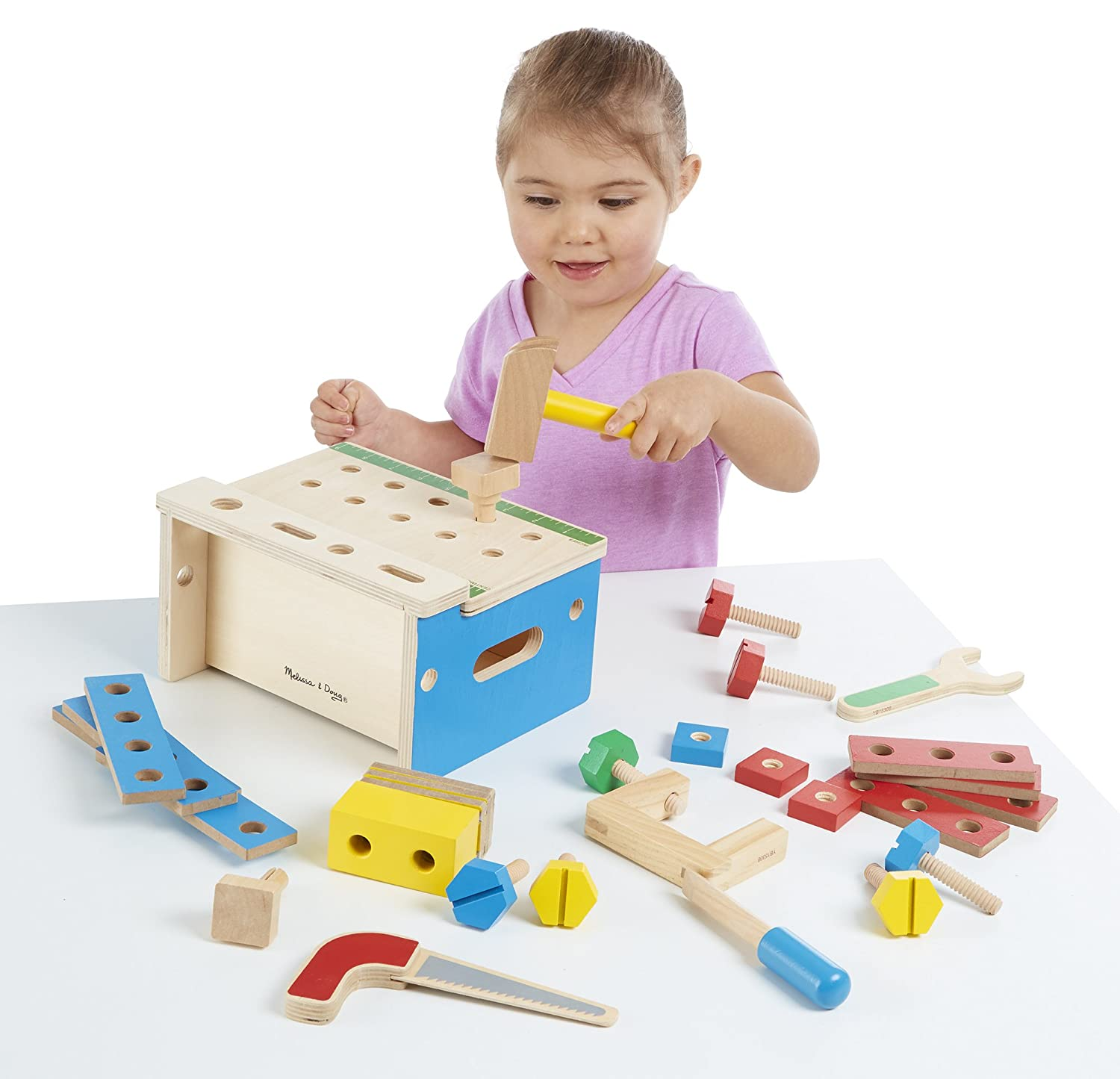 Melissa Amp Doug Mini Tool Bench Sturdy Wooden Construction