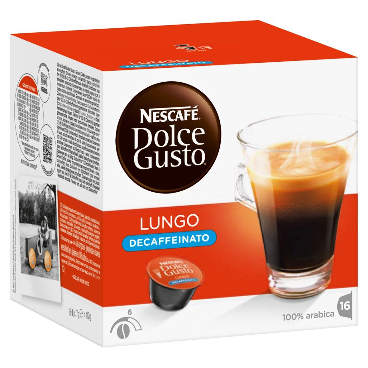 Nescafé Dolce Gusto Set de Cápsulas Descafeinadas, Caffè Lungo y Espresso Descafeinado: Amazon.es: Alimentación y bebidas