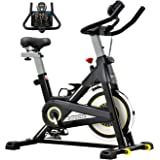 Sovnia Exercise Bike, Stationary Bikes, Fitness Bike with iPad Holder, LCD Monitor and Comfortable Seat Cushion, Whisper Quie