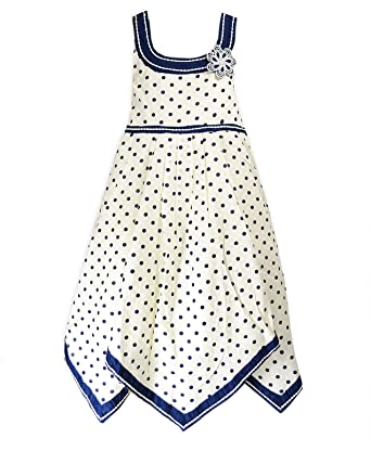 Girls Cotton Spot Dress Kids Party Sun Dresses New: Amazon.co.uk ...