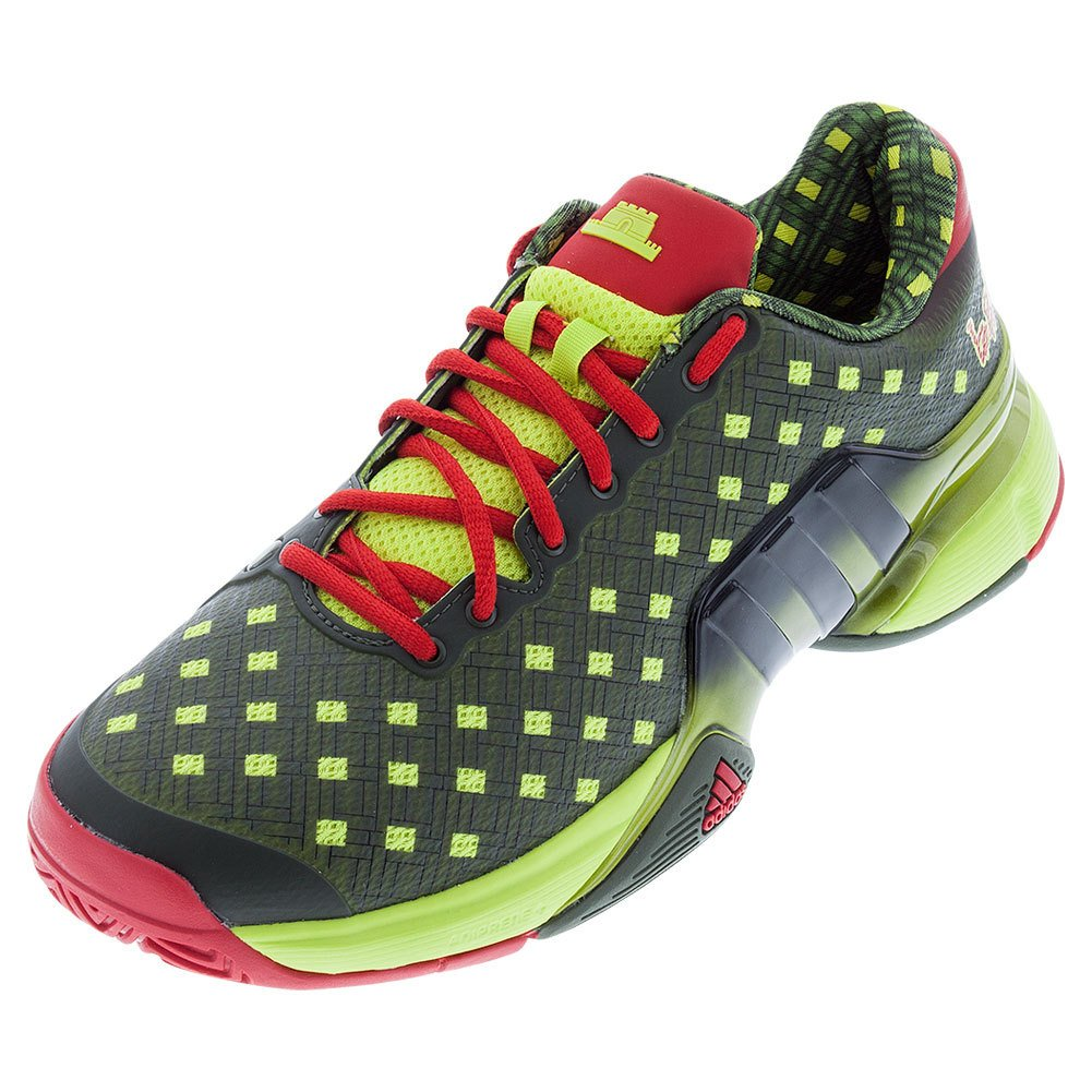 newest cfad9 fe4fc Galleon - Adidas Mens Barricade 2015-Great Wall-Tennis Shoes-Base  GreenBlackVivid Red-10.5