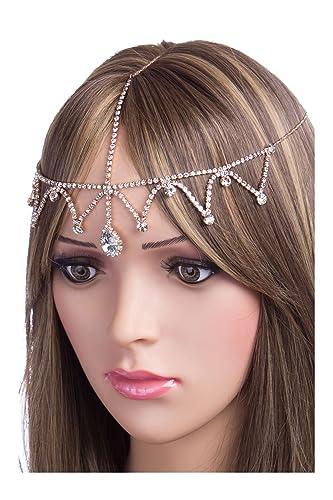Amazoncom CH0242 StyleNo1 AC rhinestone head chain head jewelry