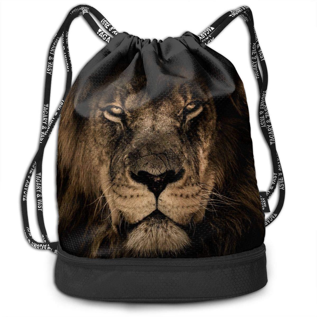 African Lion Face Multifunctional Bundle Backpack Shoulder Bag For Men And Women