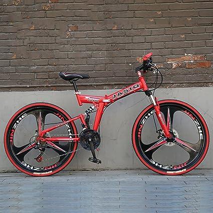 YEARLY Montaña Bicicleta Plegable, Adultos Bicicleta Plegable 21 ...