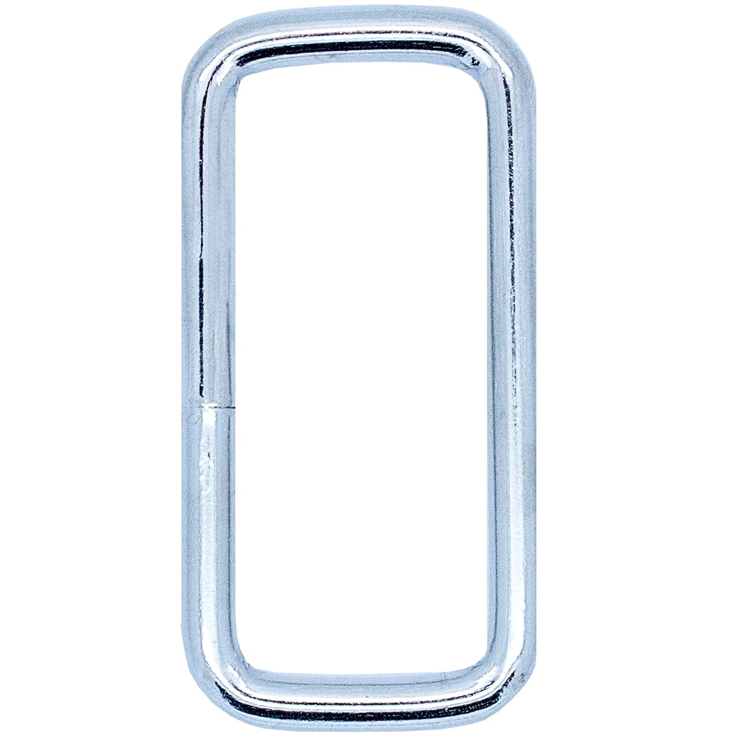 10x Large Quality Rectangle Metal D Rings - Links Buckles Leather Hand Bag Craft White Hinge