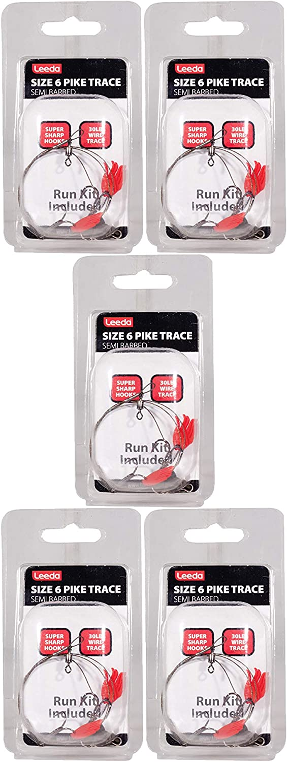 FREE GIFTS! Barbed 5 x Wire TRACE SIZE 2 Pike Fishing Dead Bait Rig