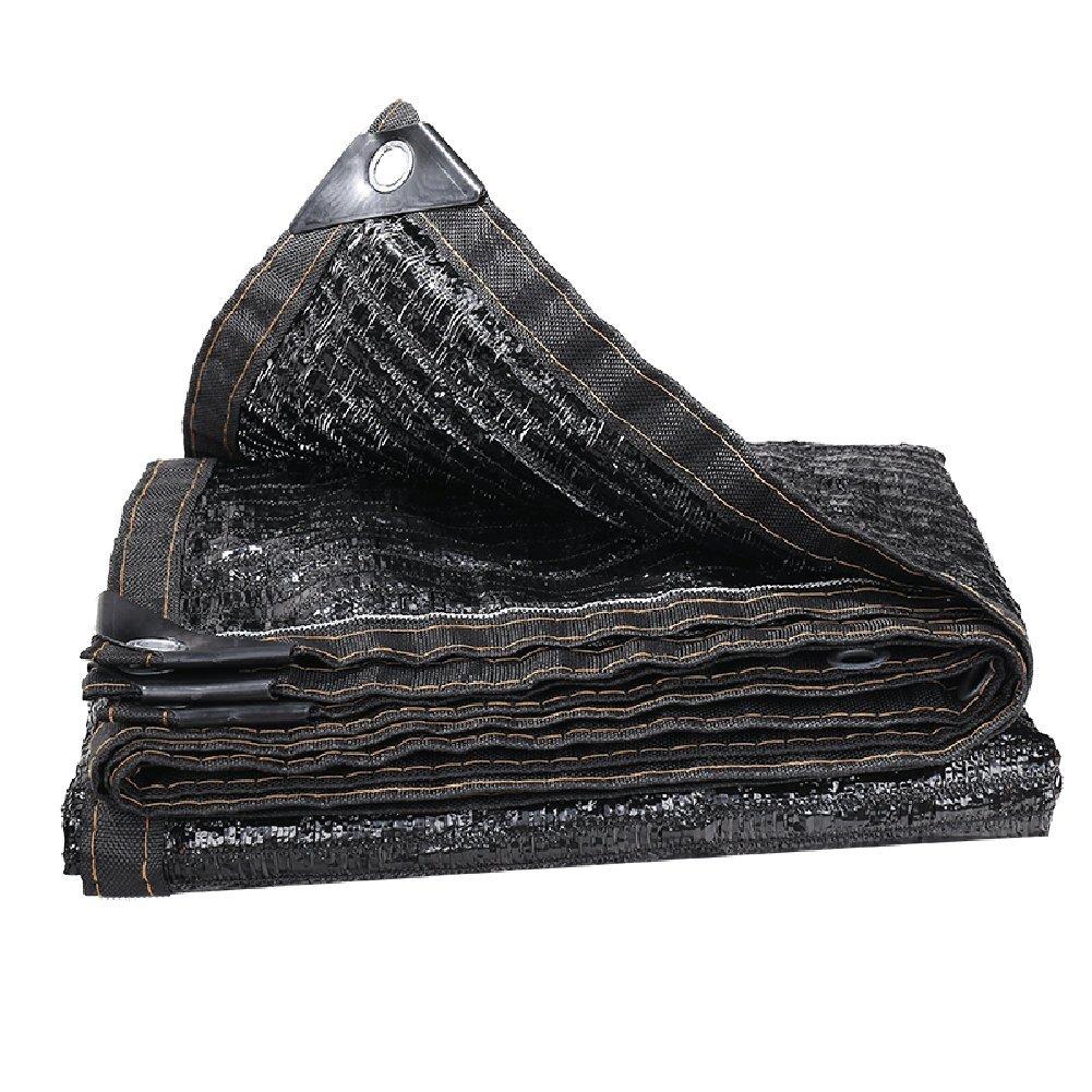 LQQGXL シェードネット、ネットワーク暗号化温室絶縁車の日の花のサンシェードネット屋上テラス 防水シート (色 : 黒, サイズ さいず : 4x9m) 4x9m 黒 B07HJ5NDH9