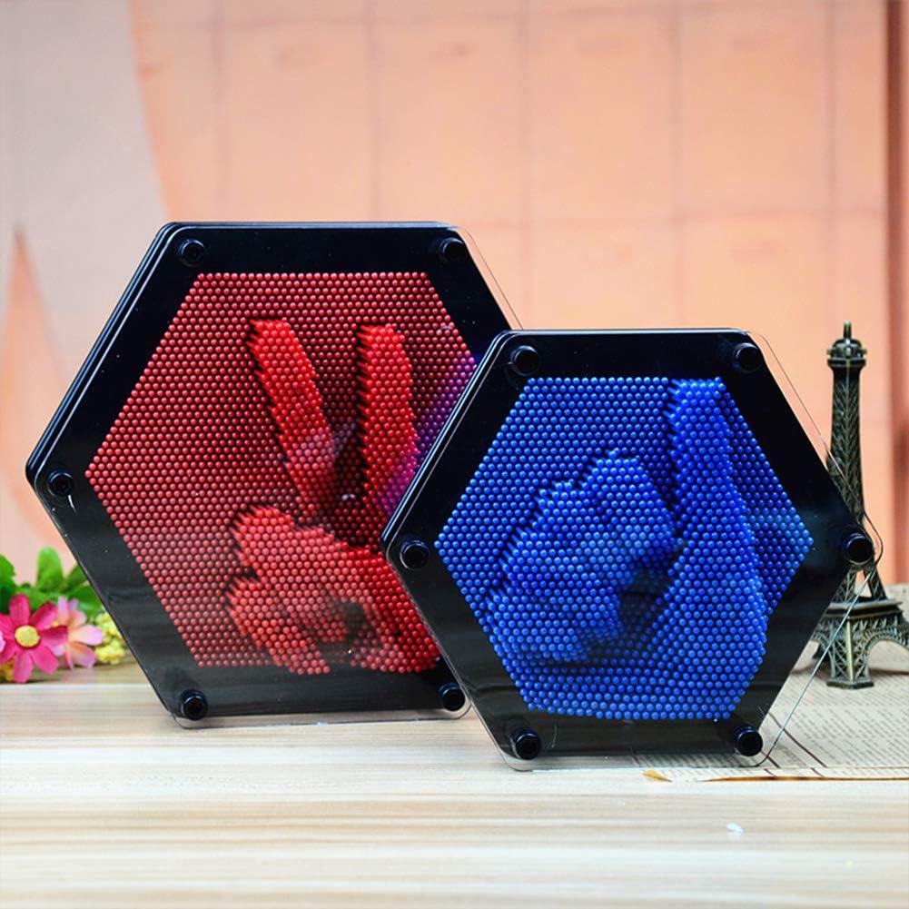 FairOnly Hexagon 3D Clone Pin Art Antistress Kids Hand Modeling Toy Random Color