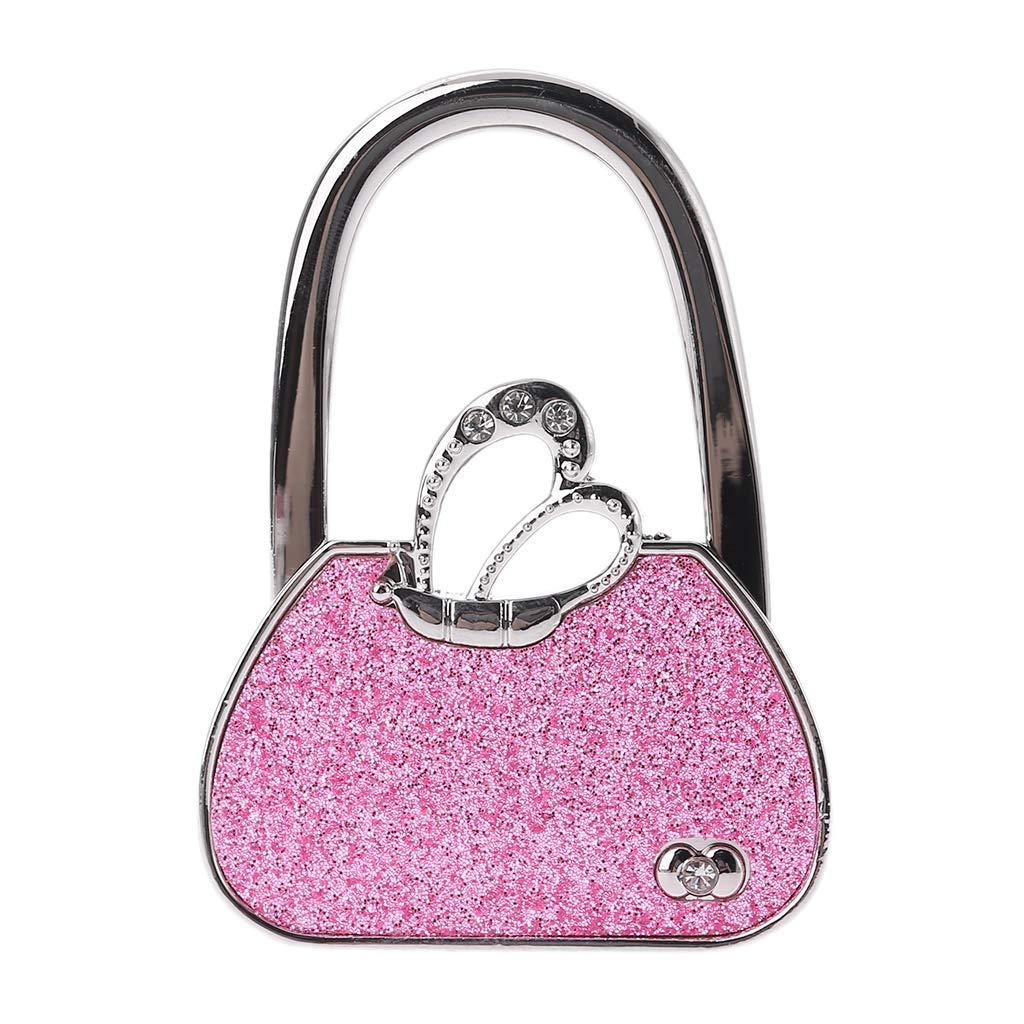 Handbag Hanger Butterfly Rhinestone Foldable Purse Table Hook Holder Women Gifts