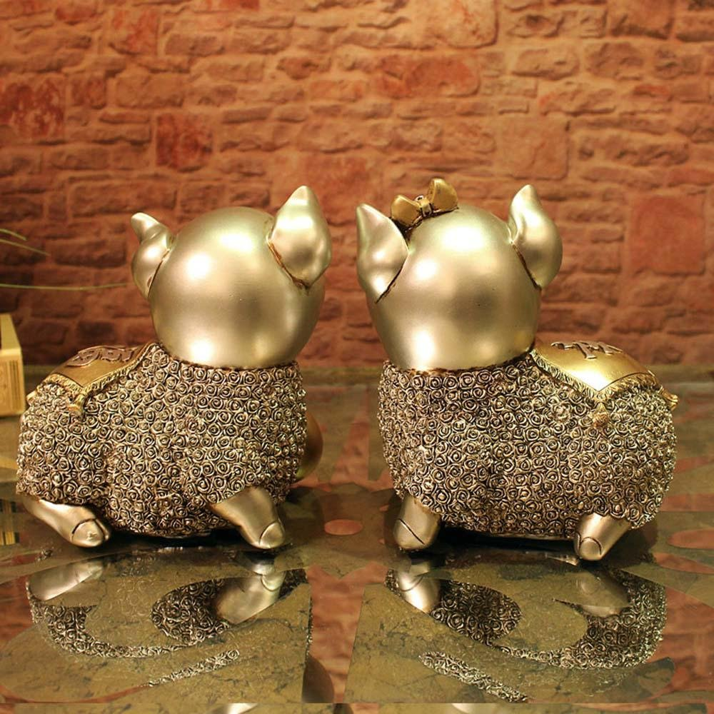 WWQY European wedding gift couple pig resin animal ornaments creative home decorations auspicious gifts 19 13 19/19 13 19 , 191319/191319 by WWQY home (Image #3)