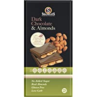 The Sugarless Company A Dark Chocolate and Almond with Stevia, 150 g