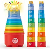 Baby Toys 12-18 Months Toddler Toys Age 1-2 Rainbow Stacking Cups with Lights Sounds Number Nesting Stacking Cups 10 Pcs Educ