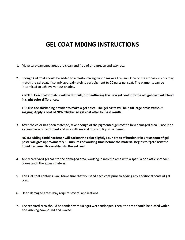 Premium Gelcoat Scratch Chips Gel Coat Repair Kit Boat Parts