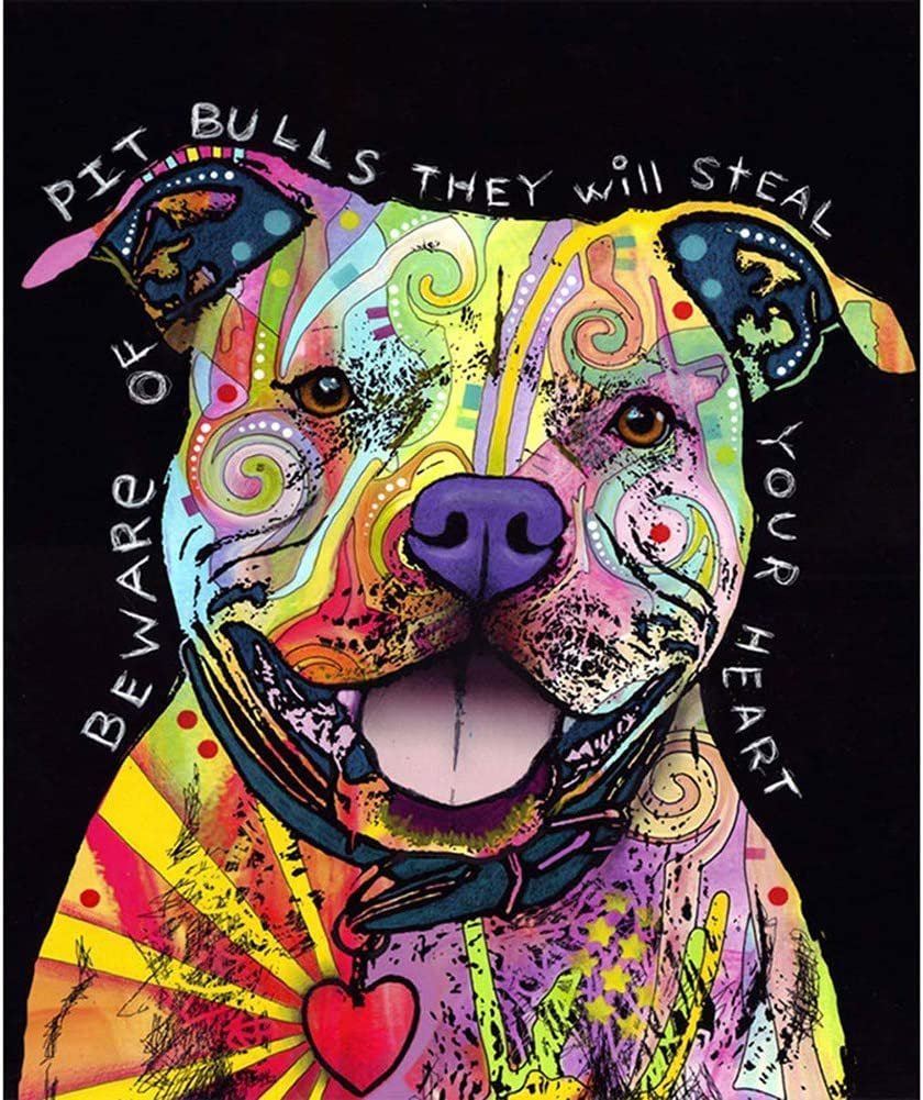 5D Pintura por Diamantes perro. (VLLW)
