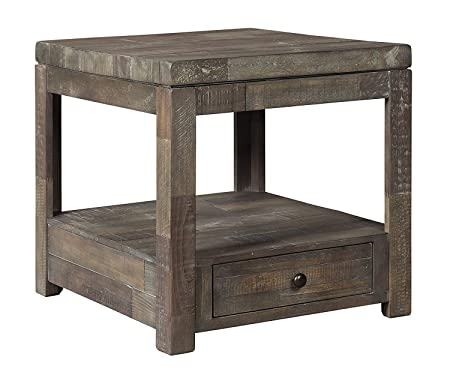 Signature Design by Ashley T884-3 Daybrook End Table, Grayish Brown