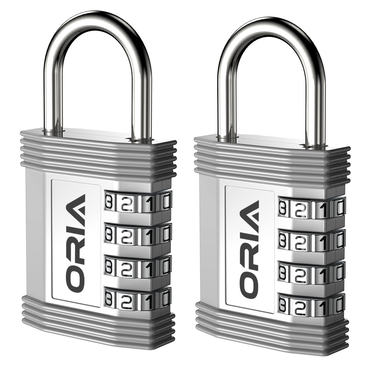 Filing Cabinets etc. Oria 2 Pack Combination lock Anti Rust and Waterproof Silver for School Gym /& Sports Locker Yellow Employee Resettable Security Locks Toolbox 4 Digit PadLock