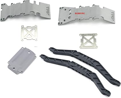 ALUMINUM LOWER CHASSIS BRACE PLATE B TRAXXAS T-MAXX E-MAXX 3.3 2.5 .15 4910 3906