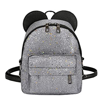 0bd0f7e90e0c0 asiproper Shining Sequins Women Cute Small Backpacks PU Leather School Bags  Girls Princess Shoulder Bag