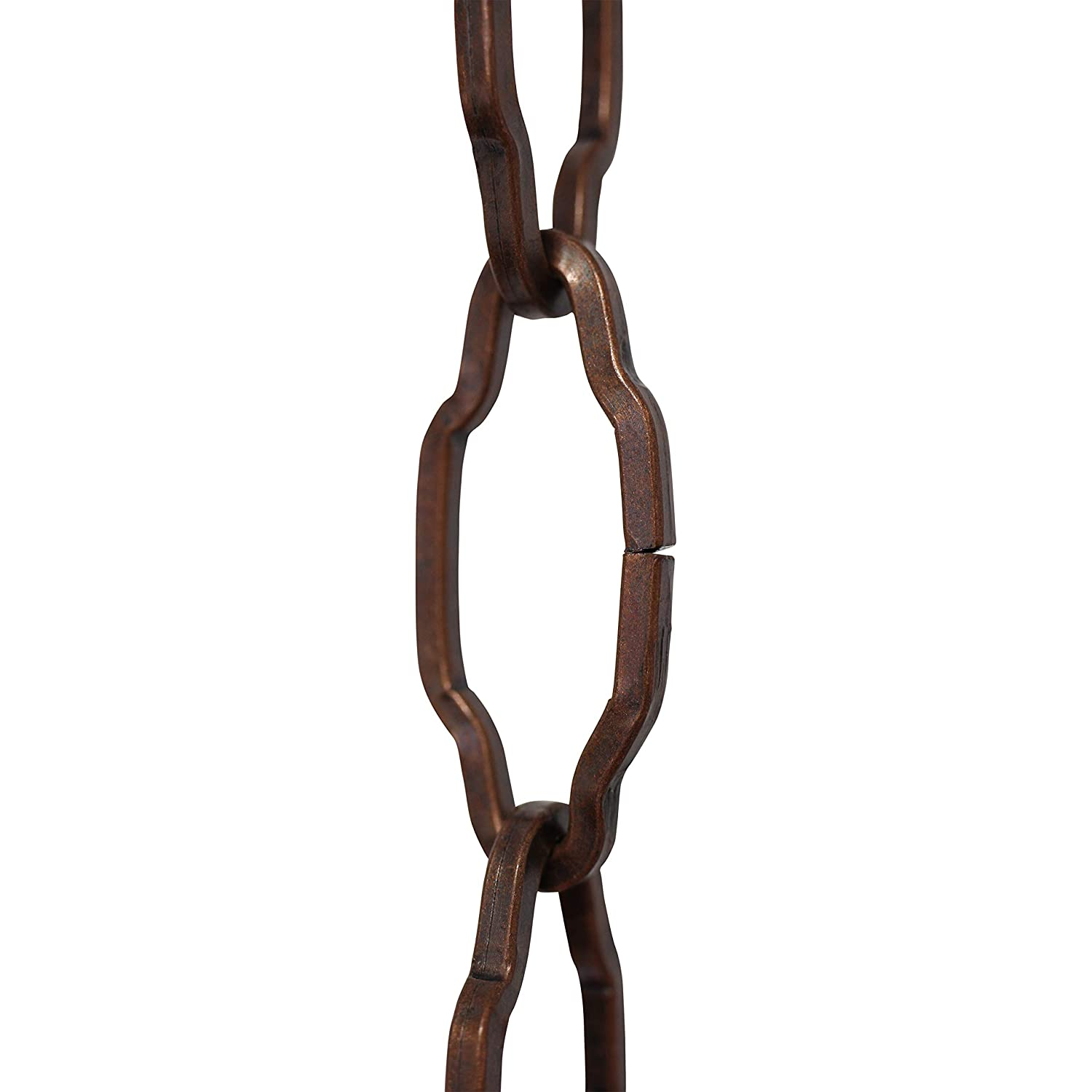 RCH Hardware CH-S57-30-AC-3 3 Foot Increments 12 Gauge Decorative Solid Steel Motif Link Fixture Chain Antique Copper Finish