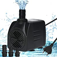flintronic Mini Bomba de Agua, 25W/1500L/H Bomba de Acuario, Altura Máxima 2.2m, Bomba de Agua, Bomba Sumergible, Bomba…