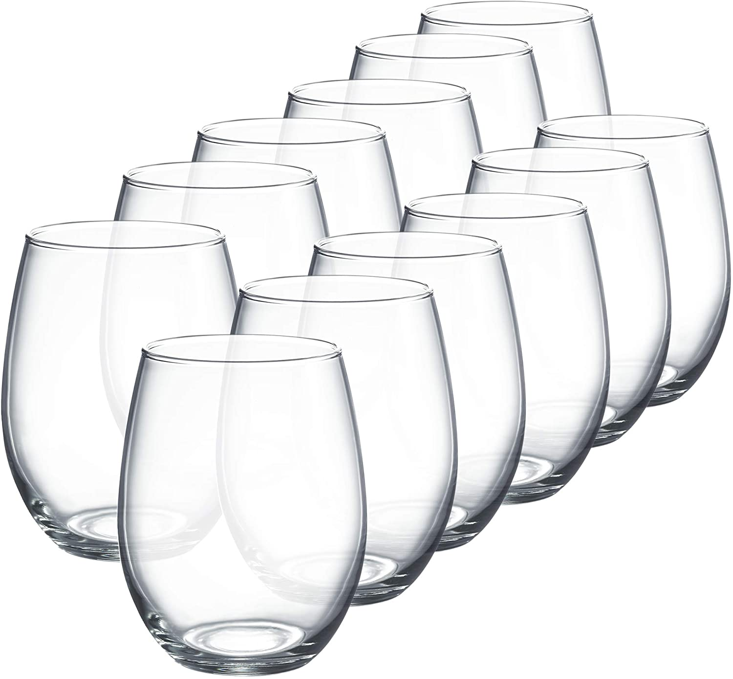 Luminarc Perfection Stemless Wine Glass Set Of 12 15 Oz Clear N0056 Amazon Ca Home Kitchen