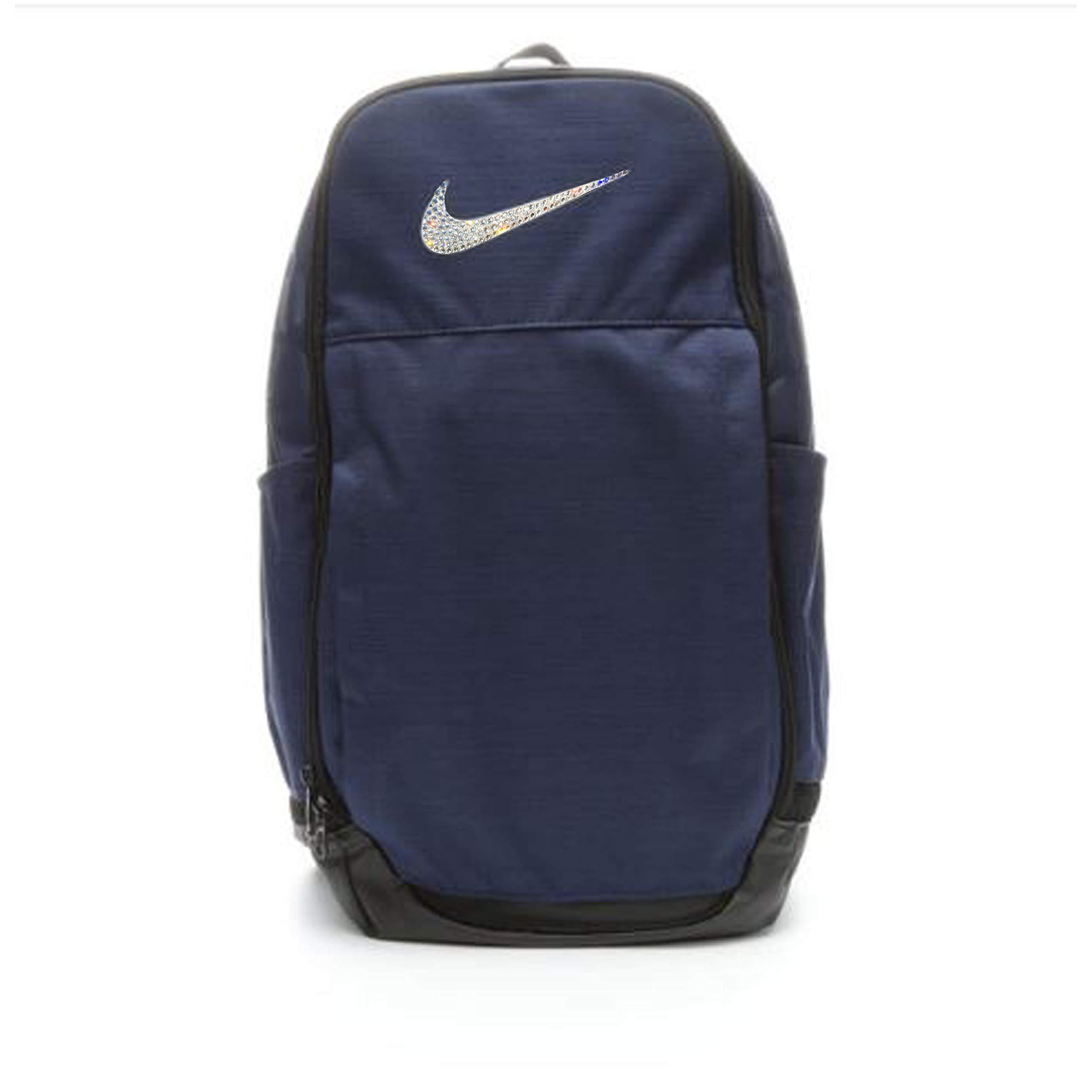 Custom Crystal Bling Swoosh | N I K E Brasilia 7 Backpack XL| Book Bag