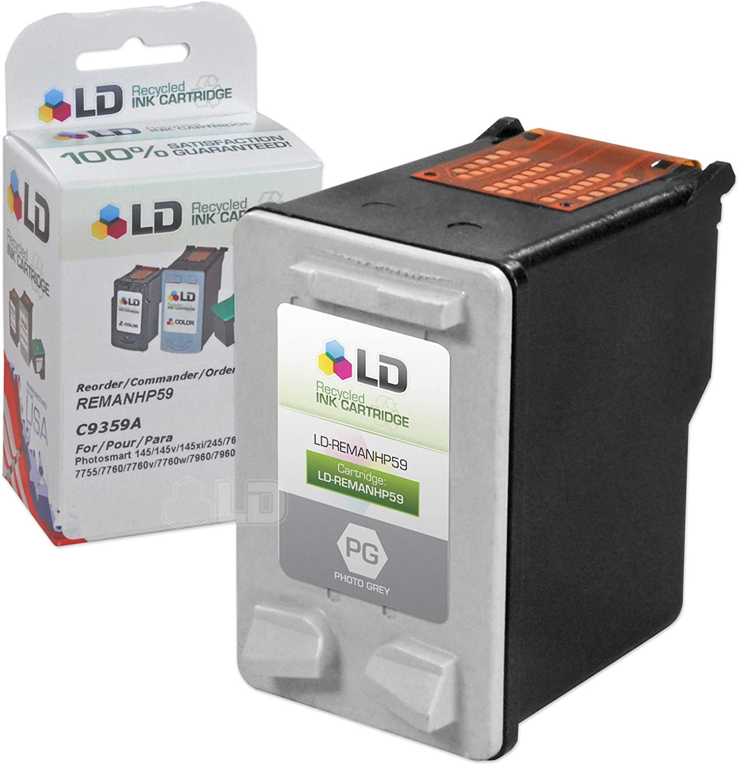 LD Remanufactured Ink Cartridge Replacement for HP 59 C9359AN (Photo Gray)