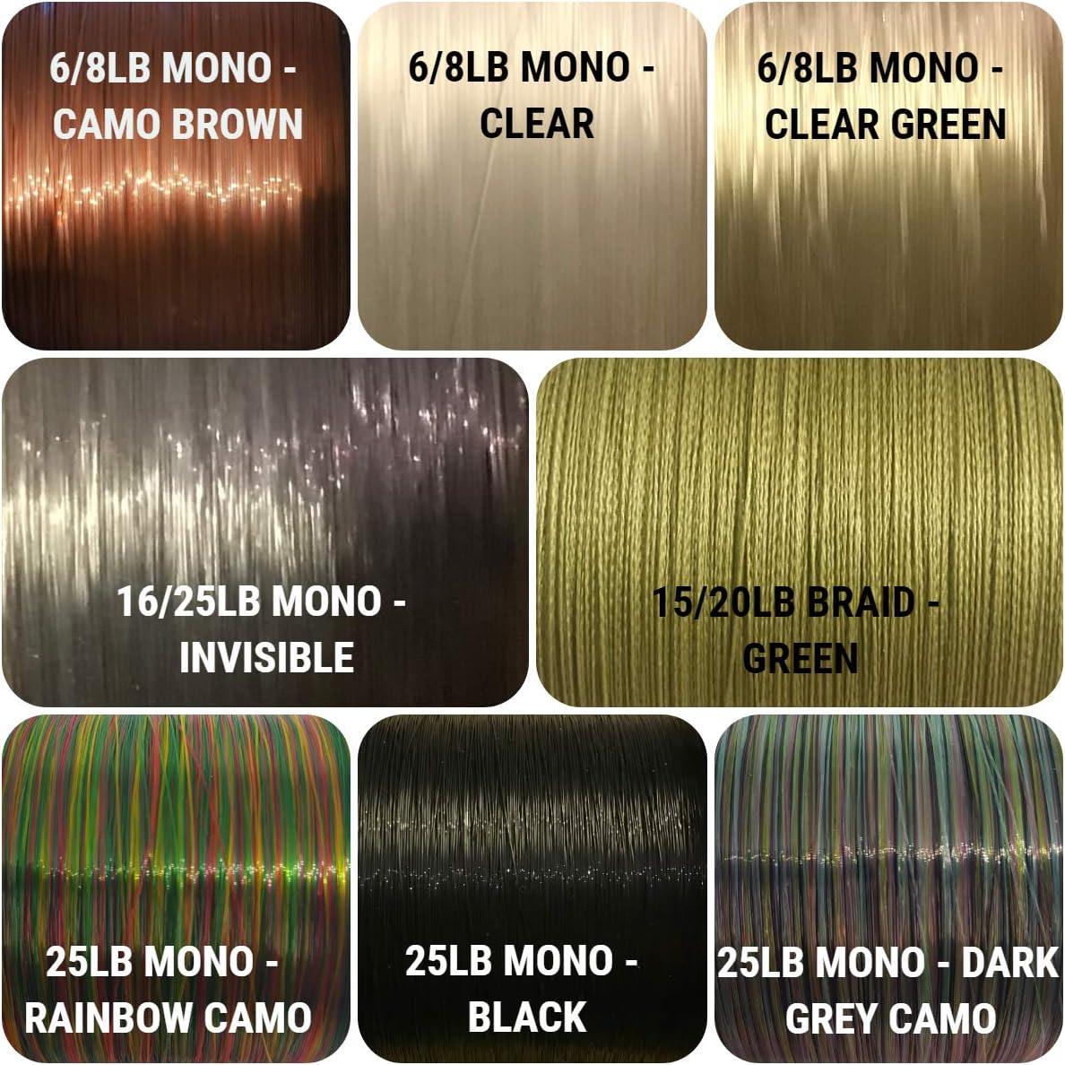 MONO 10 x KD HAIR RIGS VARIATIONS FLYNSCOTSMAN TACKLE FISHING COARSE BRAID