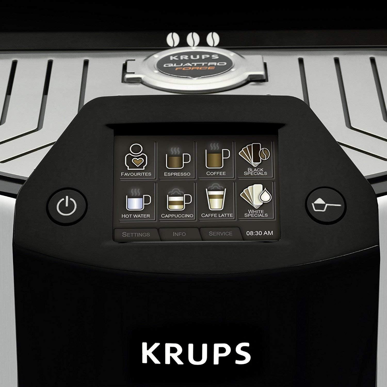 /Cafetera autom/ática Barista New Age de One Touch capuchino coloreado Krups/ 1.6/L pantalla t/áctil carbon