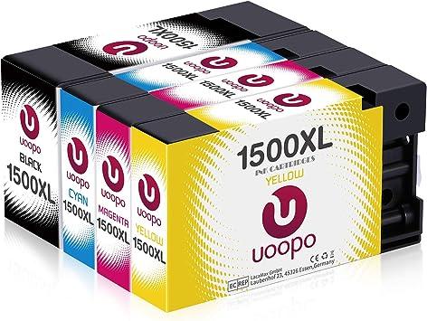 Uoopo 1500xl Patronen Kompatibel Mit Canon Pgi 1500xl Pgi 1500 Xl Multipack Druckerpatronen Für Canon Maxify Mb2000 Mb2050 Mb2150 Mb2155 Mb2300 Mb2350 Mb2750 Mb2755 Schwarz Blau Rot Gelb 4er Packs Bürobedarf Schreibwaren